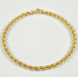 19.2ct Gold Hollow Rope Bracelet PU0520