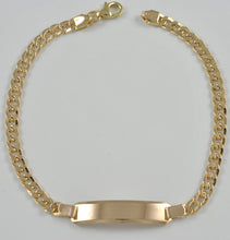 Load image into Gallery viewer, 19.2ct Yellow Gold 4MM Hollow ID Cuban link Bracelet PU0570