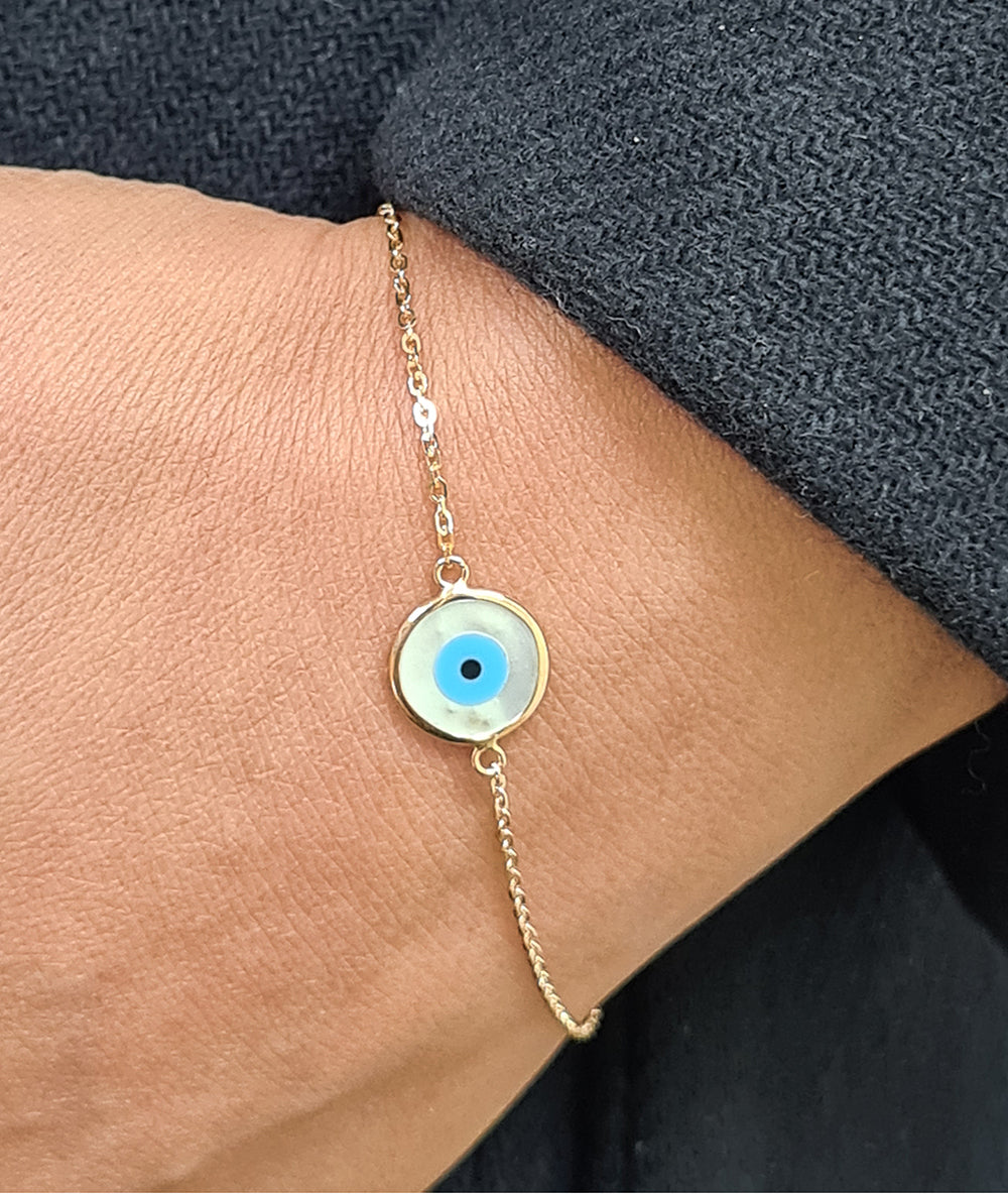 19.2ct Gold Evil Eye Bracelet PU80581