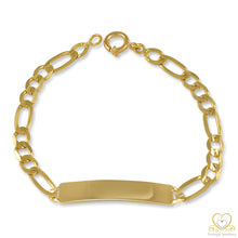 Load image into Gallery viewer, 19.2ct Yellow Gold ID 6MM Figaro Bracelet PU85012