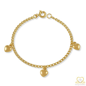 19.2ct Gold Children's Heart Bracelet PUC002