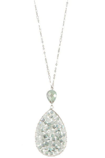Ladies faceted wired teardrop long necklace - Absolute Fashion 2020