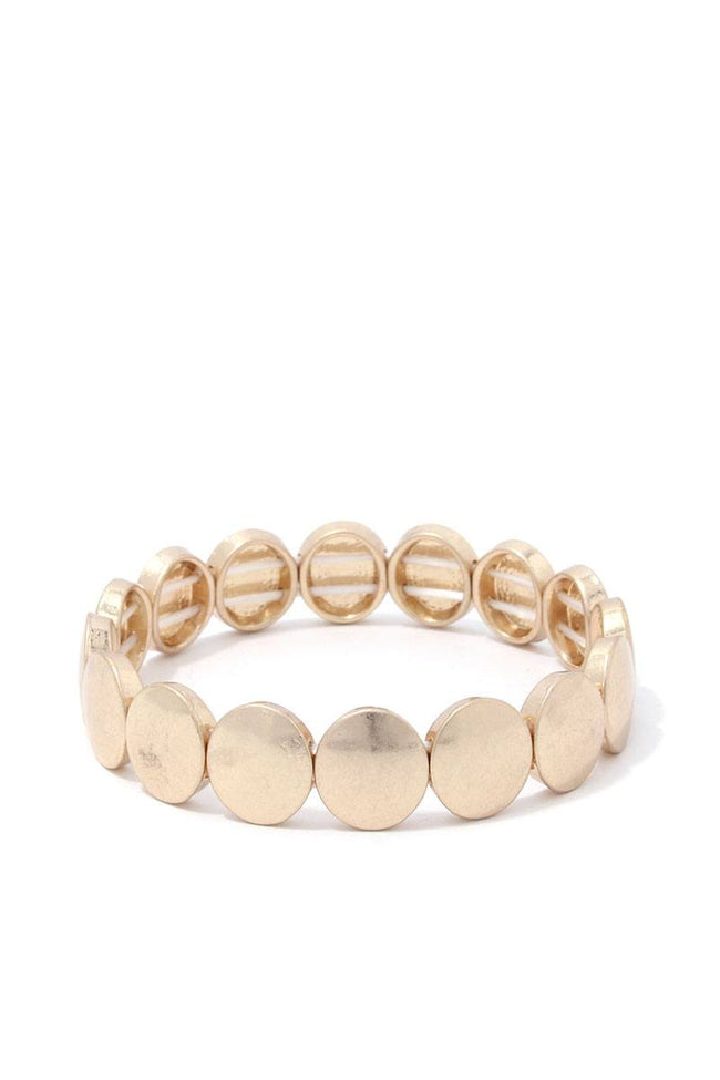 Round Metal Stretch Bracelet - Absolute Fashion 2020