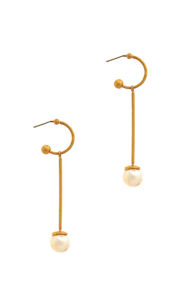 Fashion Liner Pear Drop Earring - Absolute Fashion 2020
