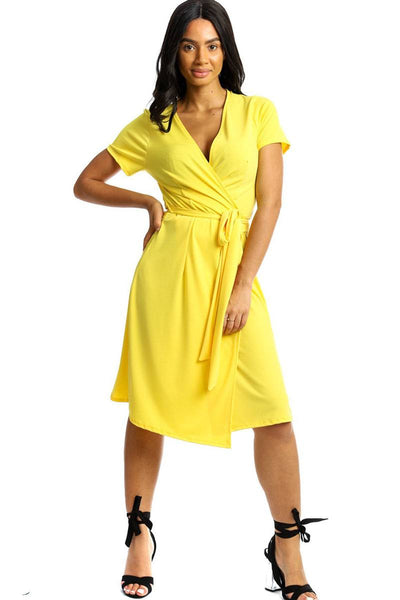 Wrapped Style Midi Dress - Absolute Fashion 2020