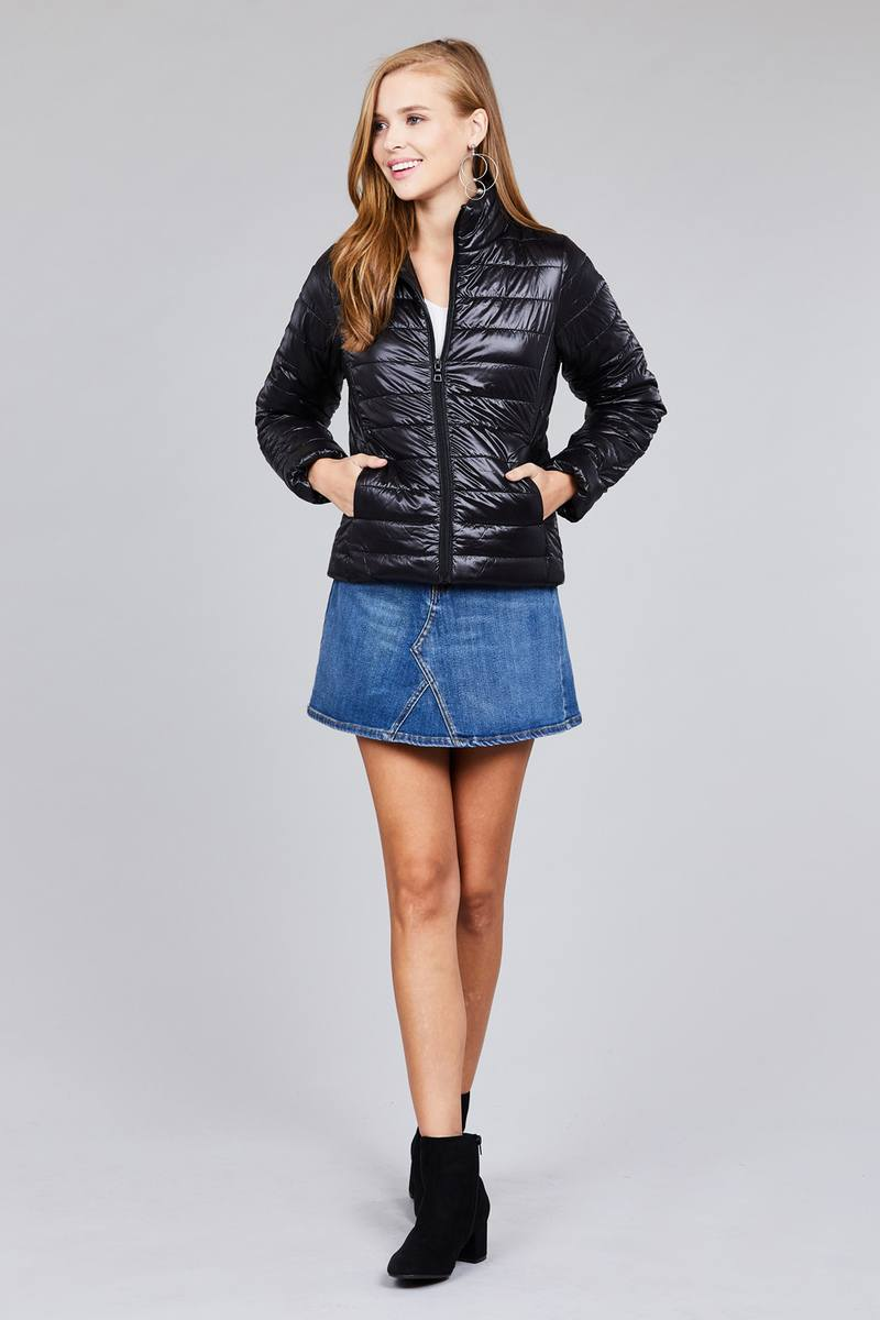 Long Sleeve Quilted Padding Jacket - Absolute Fashion 2020