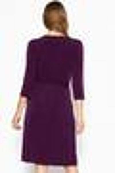 Cute Midi 3/4 Sleeve Dress With A Overlapping V-neck Line And A Belted Waist - Absolute Fashion 2020