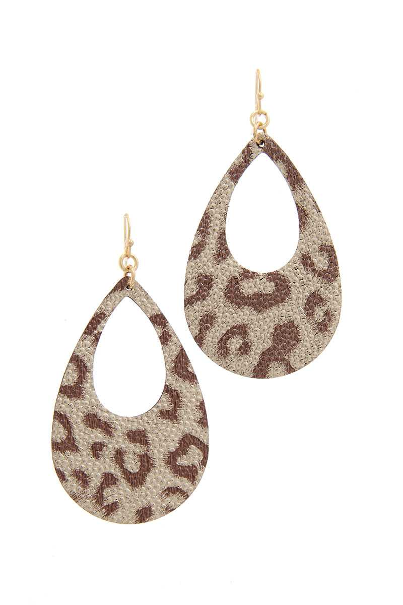 Animal Print Teardrop Shape Earring - Absolute Fashion 2020