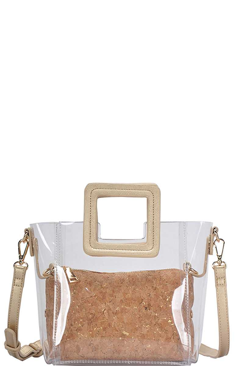 2in1 Transparent Satchel With Long Strap - Absolute Fashion 2020