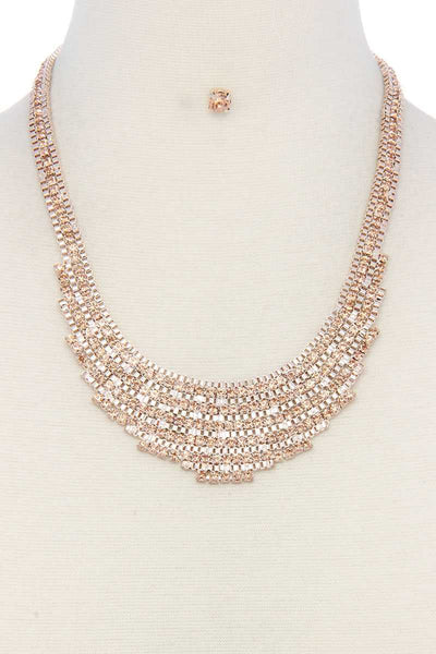 Rhinestone Short Necklace - Absolute Fashion 2020