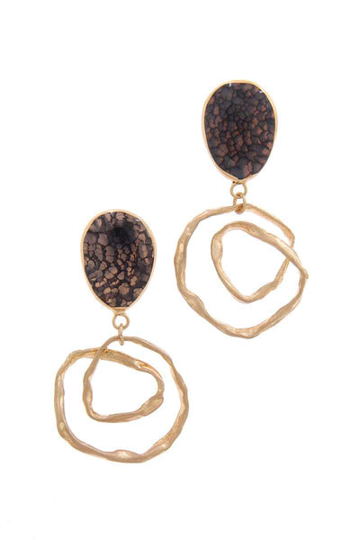 Teardrop Shape Circle Drop Earring - Absolute Fashion 2020