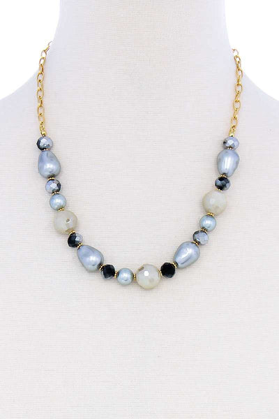 Modern Beaded Trendy Necklace - Absolute Fashion 2020