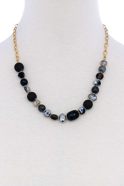 Multi Bead Stone Chic Necklace - Absolute Fashion 2020