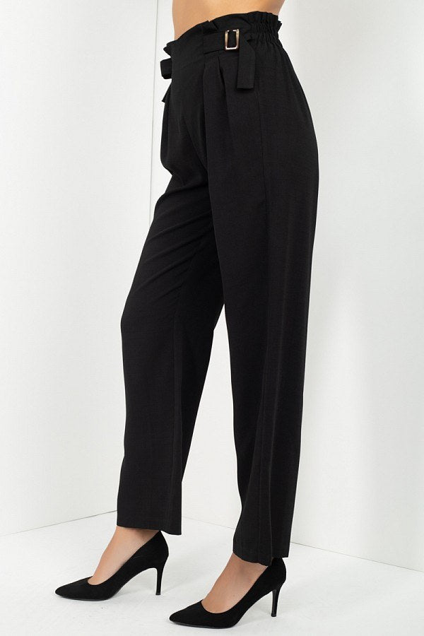 High Waist Paperbag Wide Pants - Absolute Fashion 2020