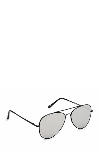 Trendy Black Framed Aviator Sunglasses - Absolute Fashion 2020