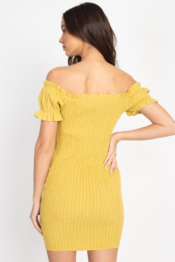 Off Shoulder Smocked Dress - Absolute Fashion 2020