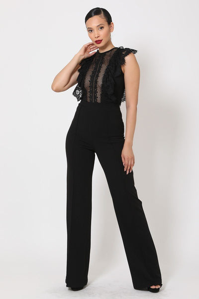 Sheer Mesh Sleeveless Jumpsuit - Absolute Fashion 2020