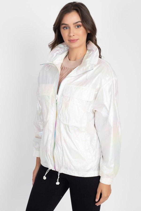 Holographic Windbreaker Jacket - Absolute Fashion 2020