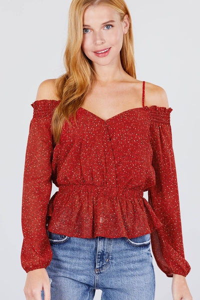 Off Shoulder Heart Neck Top - Absolute Fashion 2020