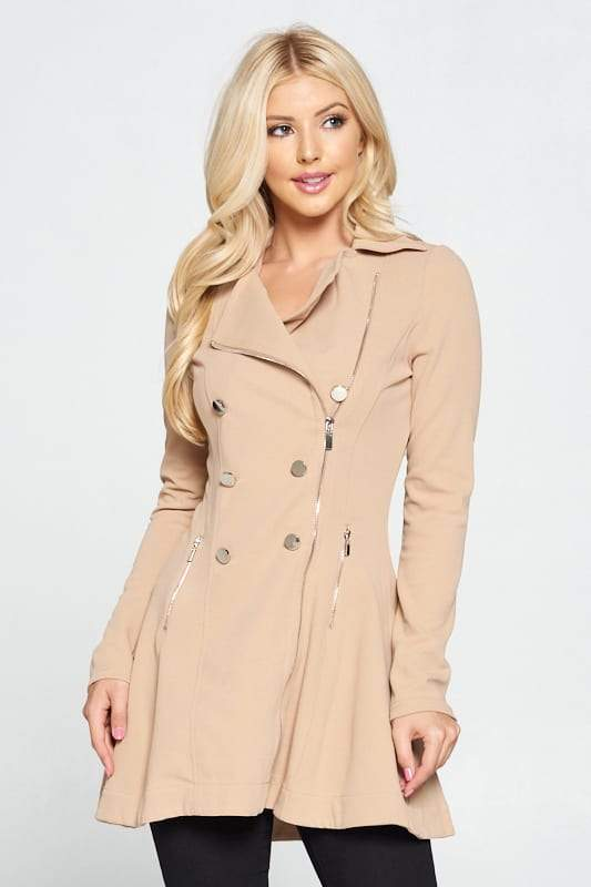 Double Breasted Flare Blazer Dress - Absolute Fashion 2020