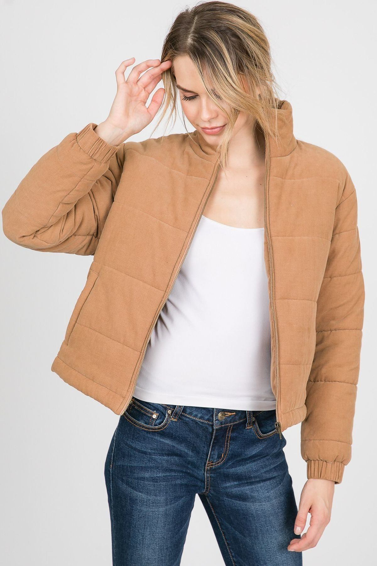 Puffy Long Sleeves Jacket - Absolute Fashion 2020