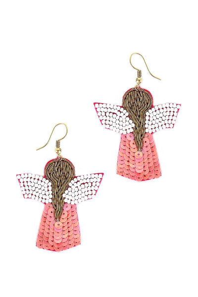Seed Bead Angle Hook Earring - Absolute Fashion 2020