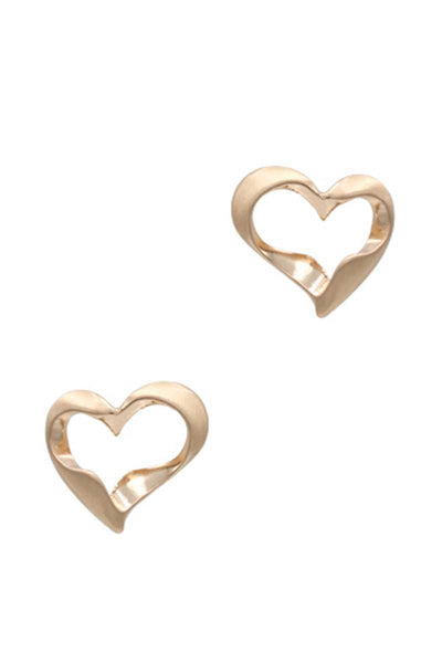 Metal Heart Stud Earring - Absolute Fashion 2020