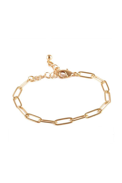 Metal Paper Clip Chain Bracelet - Absolute Fashion 2020