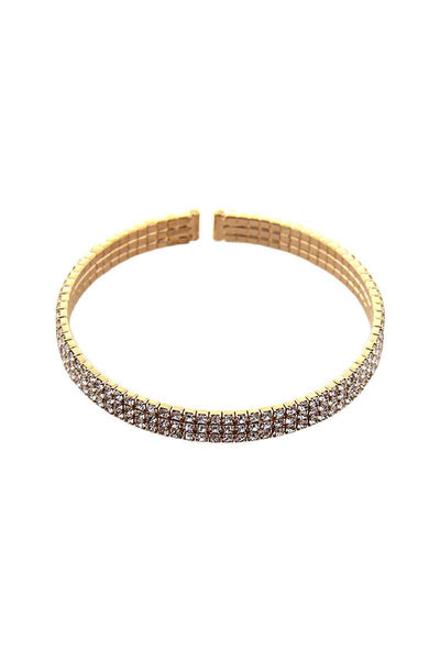 3 Line Rhinestone Flexible Bracelet - Absolute Fashion 2020