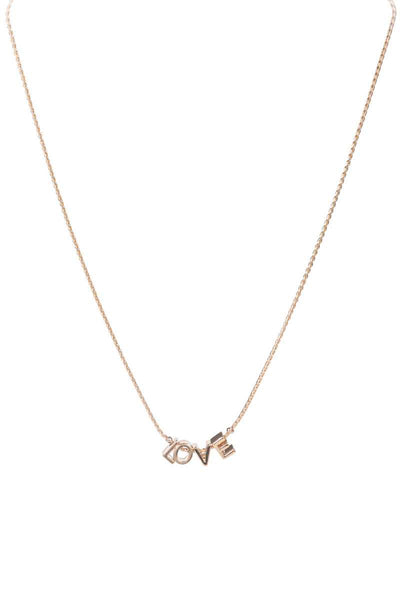 Metal Love Letter Necklace - Absolute Fashion 2020