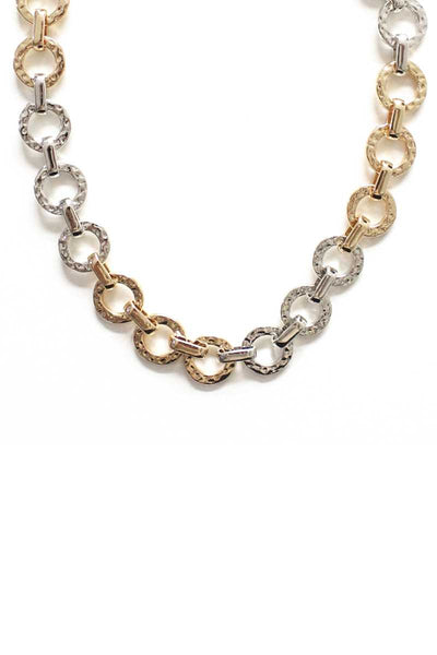 Fashion Metal Two Tone Necklace - Absolute Fashion 2020