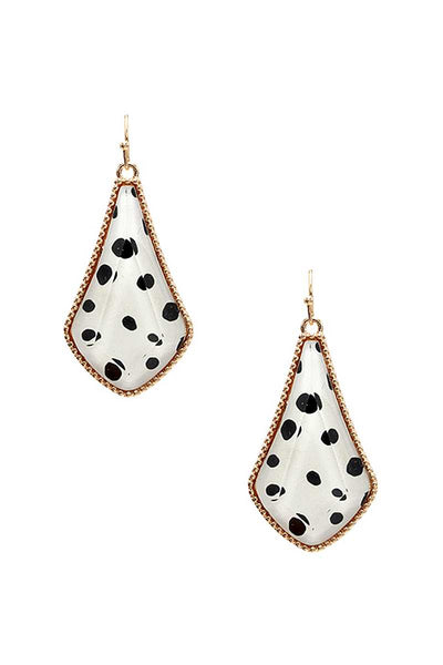 Animal Print Metal Tear Shape Earring - Absolute Fashion 2020