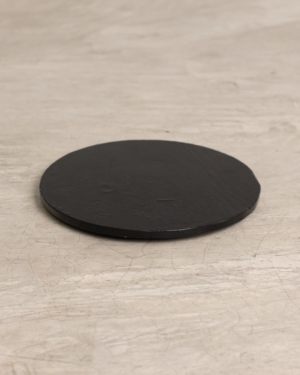 Charcoal Wooden Plate
