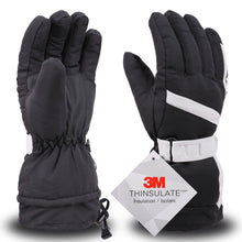 Load image into Gallery viewer, Men Waterproof Outdoors Winter Ski Gloves