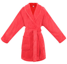 Load image into Gallery viewer, Boys Girls Soft Plush Collar Robe Bathrobe