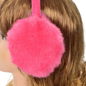 Women's Faux Fur Fleece Winter Ear Warmers, Fleece Bow