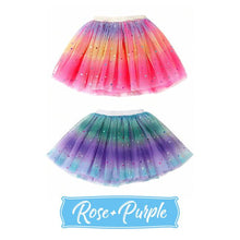 Load image into Gallery viewer, Baby Girl's Rainbow Tutu Skirt 4-Layer Tulle Princess Ballet Dress