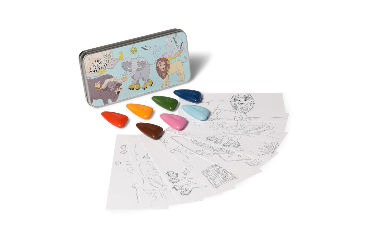 Coloring Kit Set - 3 UNIT- SAFARI BIG 5 Large