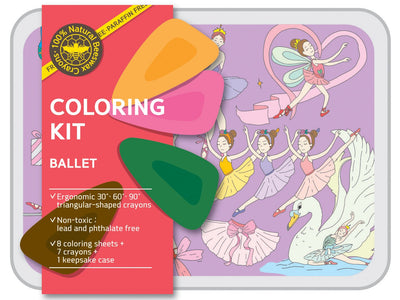 Coloring Kit Set - SAFARI + OCEAN + BALLERINA + UNICORN Small