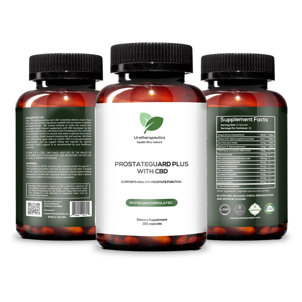 PROSTATEGUARD PLUS™ WITH CBD (Three Pack - 360 Capsules)