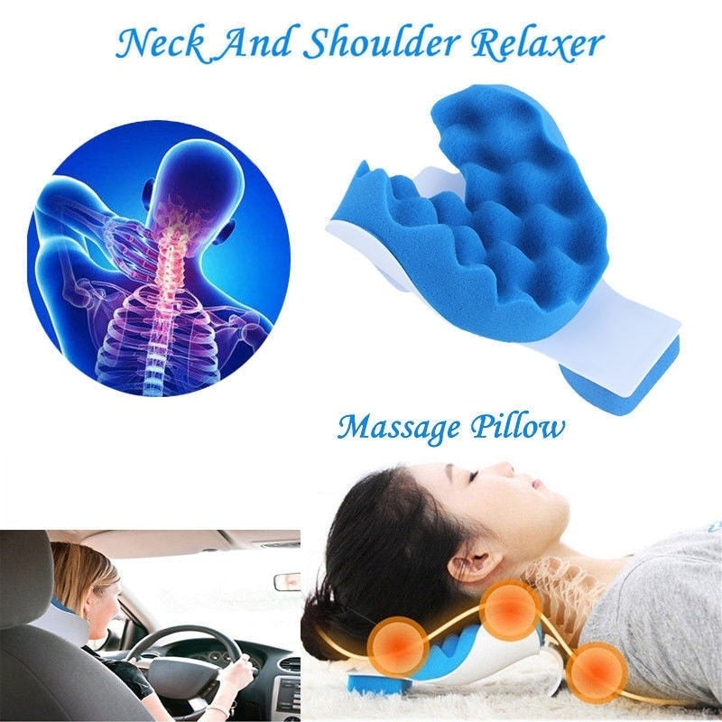 Neck and Shoulder Relaxer Pillow Relief Pain Device Traction
