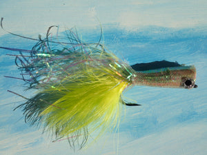 Saltwater Chrystal Popper Chartreuse