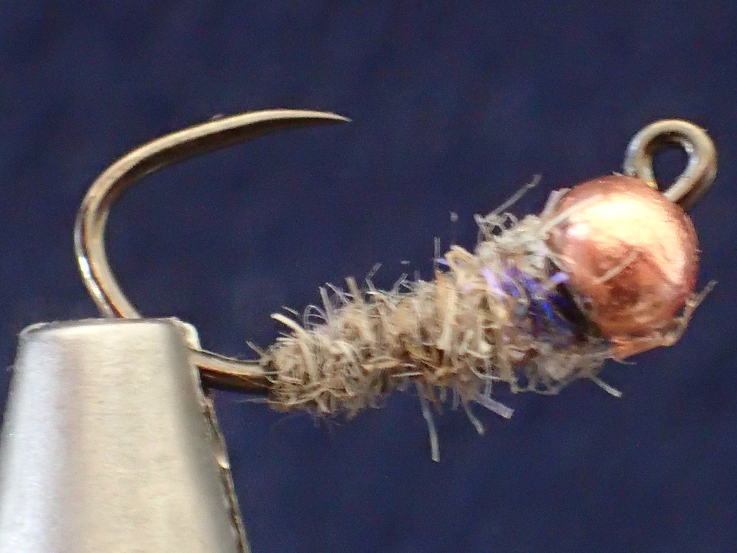 Jig Fly Purple Nymph Copper Tungsten Bead