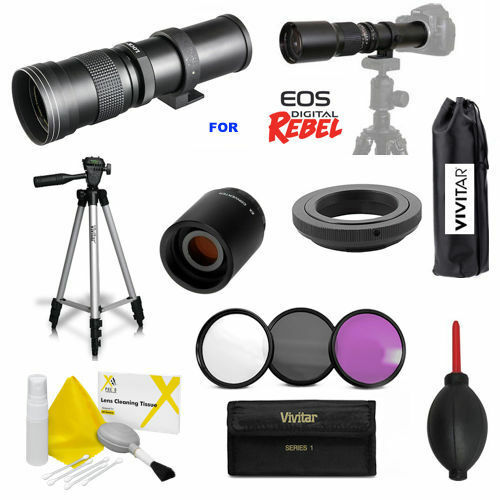 VIVITAR HD 420-1600MM TELEPHOTO ZOOM LENS FOR CANON EOS REBEL T5 T6 T7 XT XS XSI