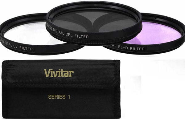 37MM HD FILTER KIT  UV-CPL -FLD. FOR SONY, OLYMPUS PENTAX CANON NIKON DSLR CAMER