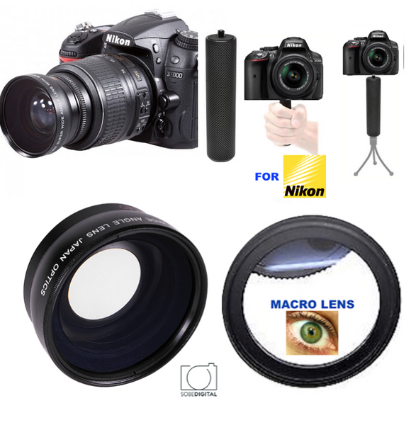 DSLR Camera Photo Professional HD Wide Angle Lens 55mm+Macro Conversion Lens