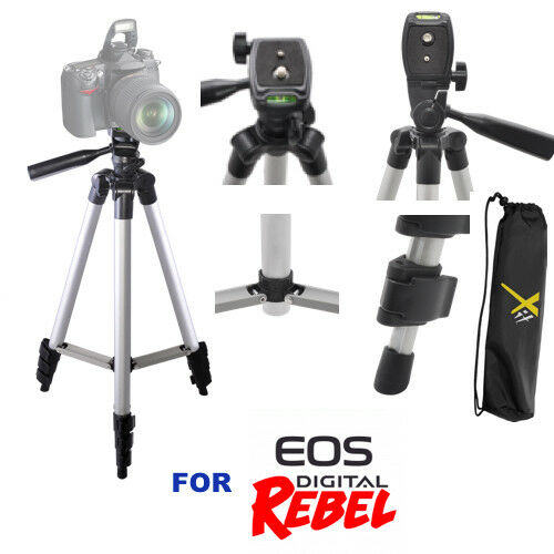 "50"" PROFESSIONAL TRIPOD WITH QUICK RELEASE FOR CANON EOS REBEL DSLR T5 T6 T3 T1"
