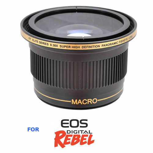 58mm X38 HD ULTRA WIDE ANGLE Lens for Canon EOS Rebel 300D T3 WITH 18-55MM LENS