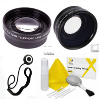 37MM WIDE ANGLE LENS +TELEPHOTO  ZOOM LENS + CLEANING KIT FOR OLYMPUS OM-D E-M5