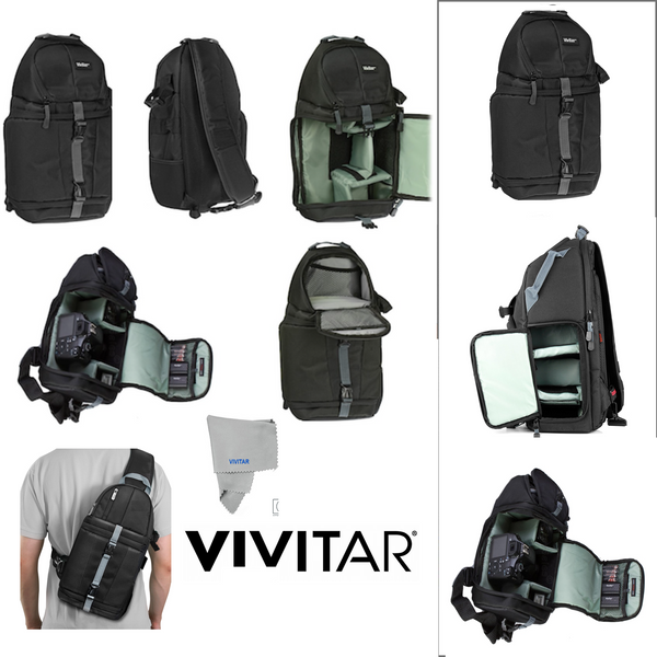 VIVITAR CAMERA SLING BACKPACK FOR CANON EOS REBEL T1 T2 T3 T4 T5 T6 T7 T5I T6I